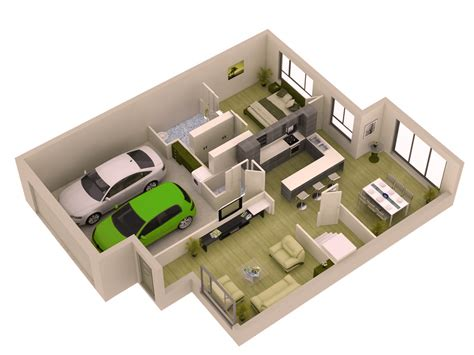 Modern 3d Home Design Software Simple 1 Bedroom Small Modern Home Plans With Garage