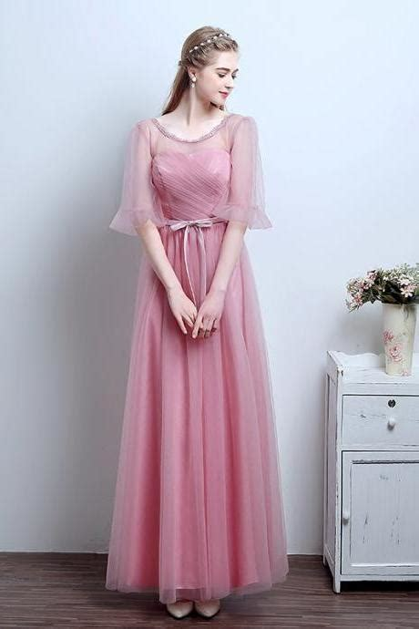 Inez Blusher 05 Modest bridesmaid dress white bridesmaid dress modest bridesmaid dresses cheap bridesmaid dress