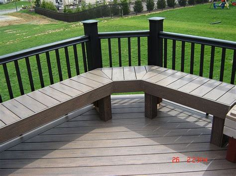 deck bench seating ideas 52 best images about deck on pinterest patio under decks