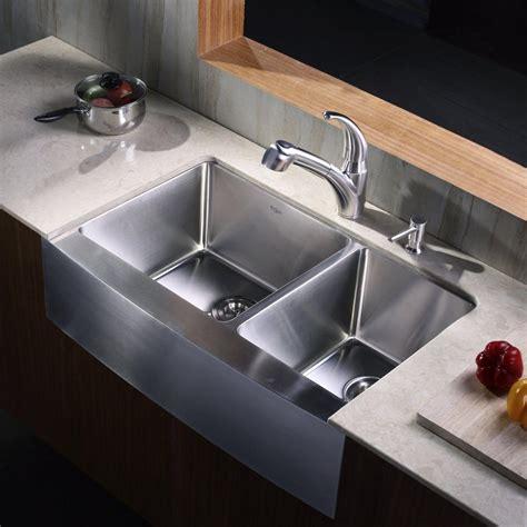 Kraus KHF20333KPF2110SD20 33 Inch Stainless Steel 70/30