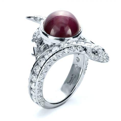 custom ruby and snake ring 1139