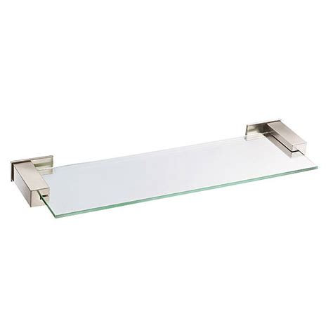 bathroom glass shelves brushed nickel danze 174 sirius glass shelf 18 quot brushed nickel free
