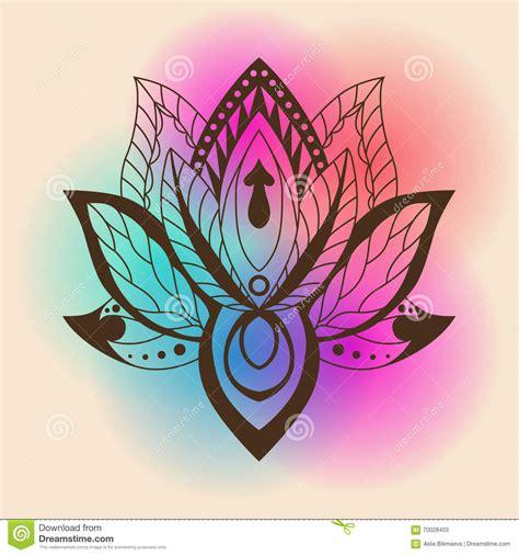 lotu s lotus mandala vector ornamental lotus ethnic zentang