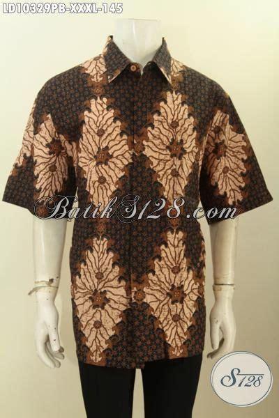 Baju Jumbo Pria model baju batik jumbo pria gemuk hem batik printing