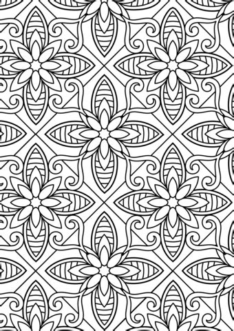 Floral Pattern coloring page | Free Printable Coloring Pages