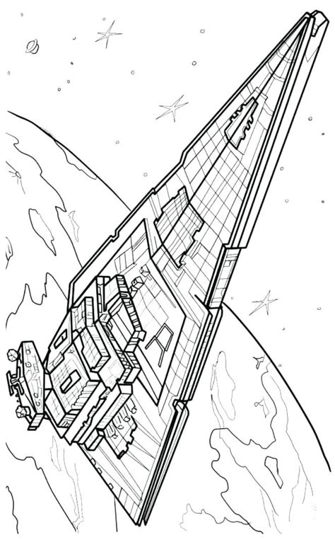 interdictor star destroyer coloring page  printable