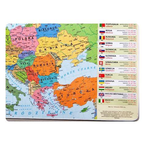 podkładka mapa polityczna europy anglobe