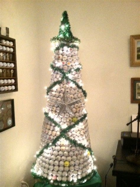 golf ball christmas tree golf christmas gifts pinterest