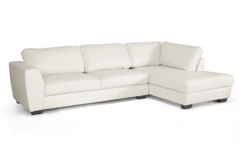 baxton studio orland brown leather modern sectional sofa baxton studio orland white leather modern sectional sofa