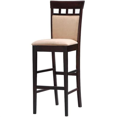 padded bar stools with backs coaster hyde 30 quot upholstered panel back cappuccino bar