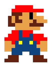 Pixelated Mario Characters Computer Game Graphics
