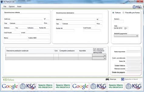 software per web gratis italiano ks fattura programma gratuito per creare fatture tutto