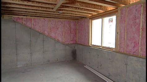 Insulating Exterior Basement Walls Bat Wall Insulation