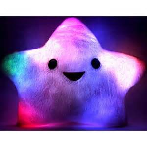 colorful luminous light up plush pillow 19 quot shaped