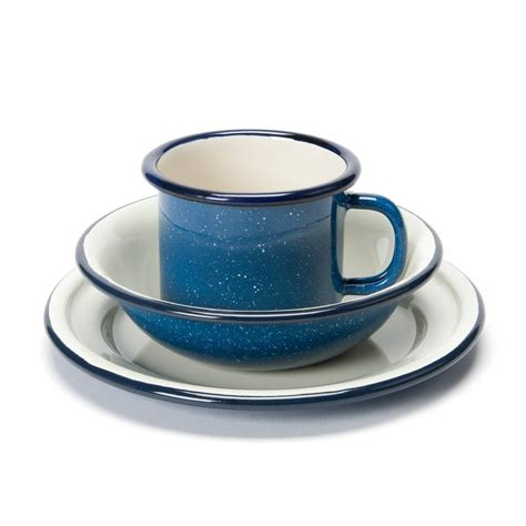 Cup On The Plate enamel cup bowl plate set toys crafts