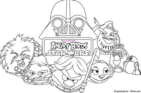Free Coloring Pages Star Wars Angry Birds | angry birds star wars coloring pages team colors