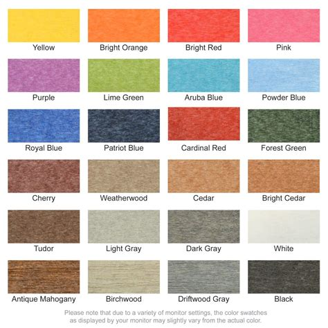 these are the colors of our polytwill material new poly lumber colors adirondack chairs 4 less