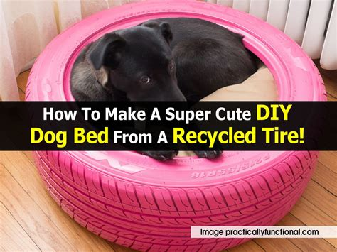 how to make a dog bed out of pallets how to make a super cute diy dog bed from a recycled tire
