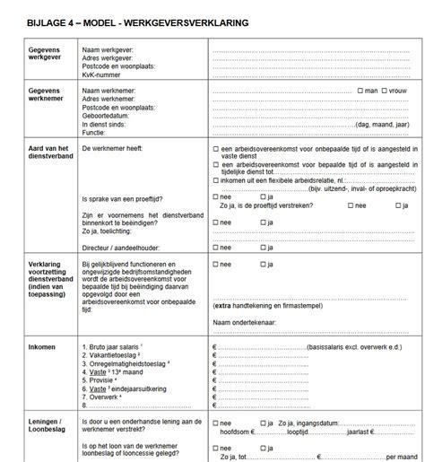 intentieverklaring werkgever welke papieren moet ik aanleveren voor een hypotheek lavida financiele planning