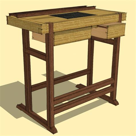 Commercial Drafting Table Drawing Dovetails With A New Plugin Finewoodworking