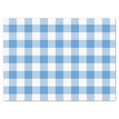 blue patterned tissue paper light blue and white gingham pattern tissue paper zazzle