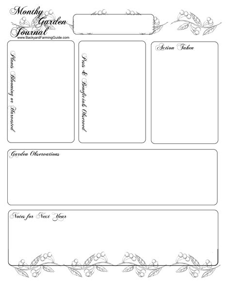 printable garden journal pages free printable gardening journal pages