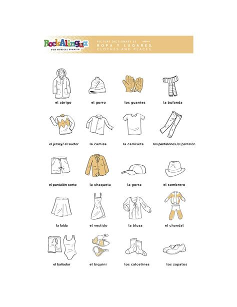 worksheet about clothes places and weather more