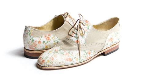 flower oxford shoes beige and flower oxfords from goodbyefolk available on