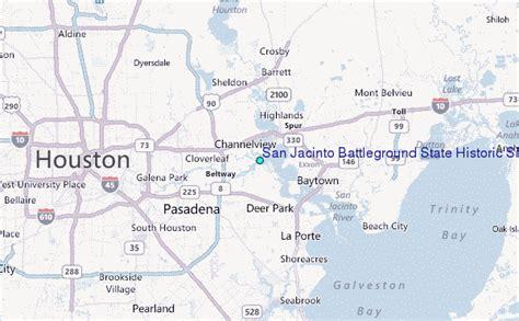 san jacinto texas map san jacinto battleground state historic site texas tide station location guide