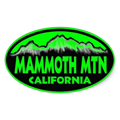 Mammoth Mountain Sticker mammoth mountain california oval stickers zazzle