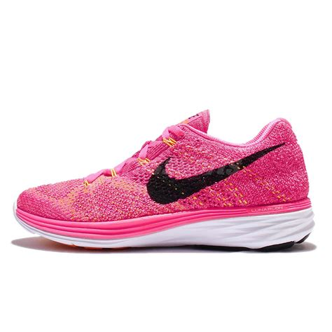 nike pink running shoes womens wmns nike flyknit lunar3 pink black womens running shoes