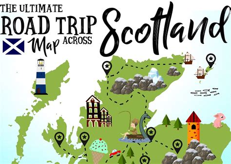Journal Hacks by The Ultimate Map Of Things To See When Visiting Scotland