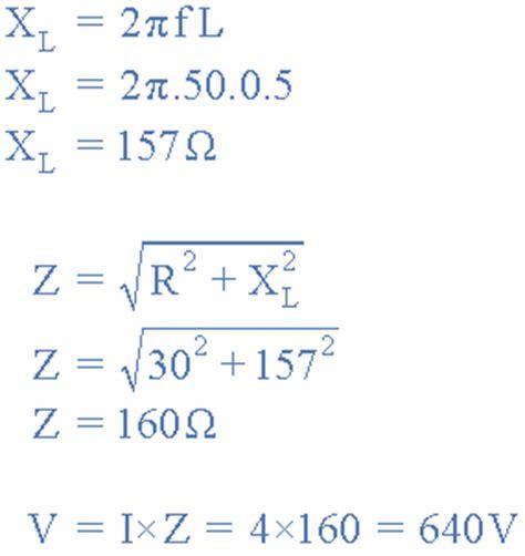 inductive reactance series inductive reactance reactance of an inductor
