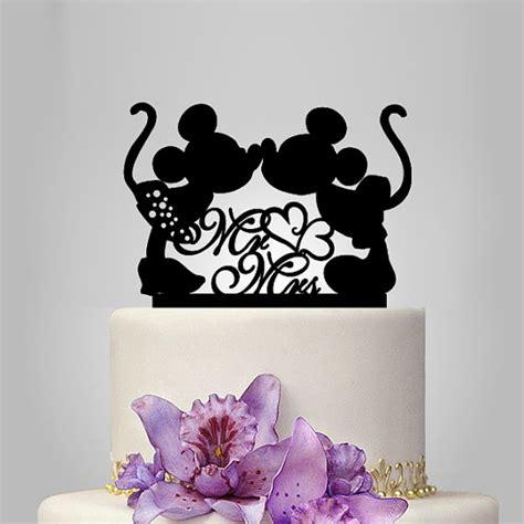 mickey and minnie mouse disney wedding cake topper mickey and minnie mouse silhouette cake topper mr and mrs wedding cake topper with decor