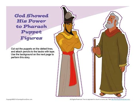 moses confronted pharaoh puppets childrens bible crafts  activities