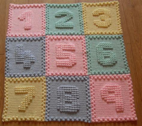 crochet pattern for numbers numbers baby blanket crochet pattern by peach unicorn ebay