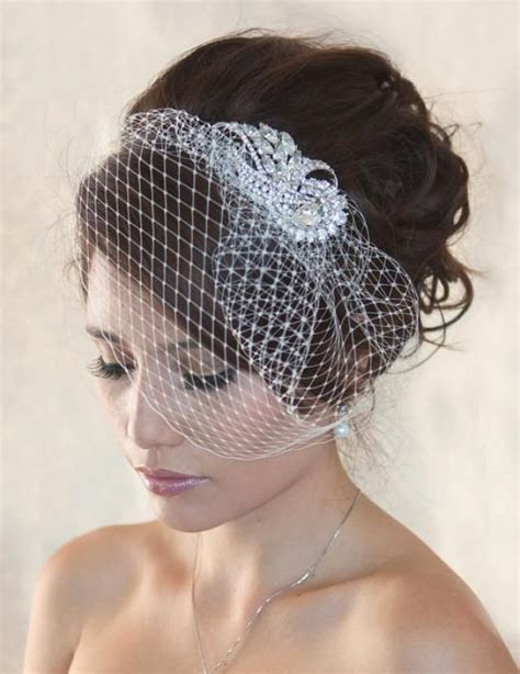 Wedding Hair Birdcage Veil by Best 25 Birdcage Veil Hair Ideas On Birdcage