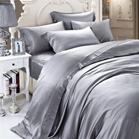 grey silk comforter 19 momme silver grey gray luxuer silk duvet cover single