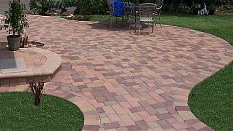 paving backyard lowe s concrete pavers stone red