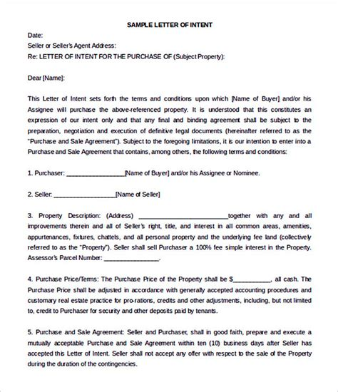 Letter Of Intent Sle Commercial Real Estate 15 letter of intent template for both