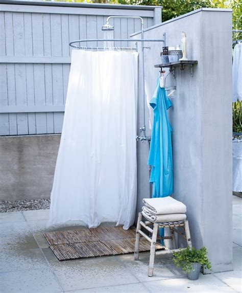 outdoor shower curtains outdoor shower bathrooms pinterest