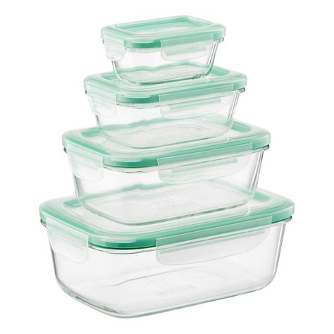 rectangular food storage containers grips 8 rectangular glass food storage set by