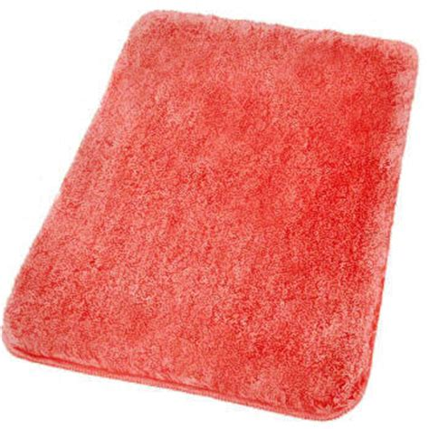 Coral Bathroom Rug Relax Plush Bath Rugs Large Bathroom Rugs