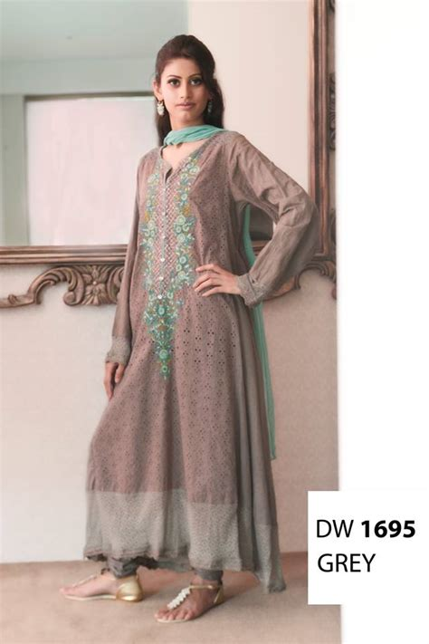 design dress cotton maria b winter cotton dresses design 2013 2014 designer