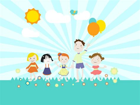 childrens playground ppt backgrounds cartoon games