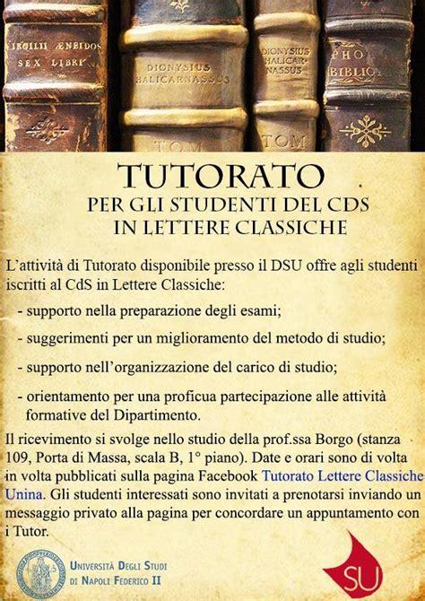 lettere classiche tutorato lettere classiche unina home