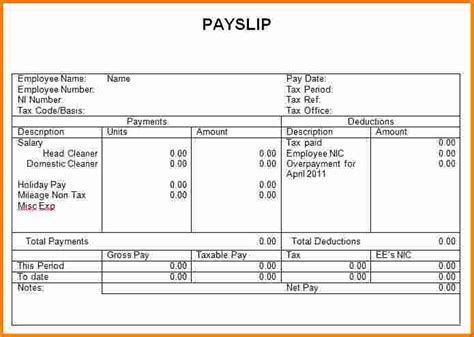 Payment Slip Template Excel by 10 Simple Salary Slip Format In Excel Rsvp Slip Template