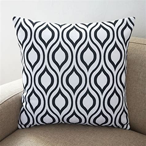 Black And White Sofa Pillows Howarmer Canvas Cotton Throw Pillows Cover For Black And White Set Of 4 Accent Pattern 18
