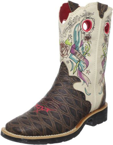 tattoo lotion boots ariat showbaby rocker western boot toddler little kid big