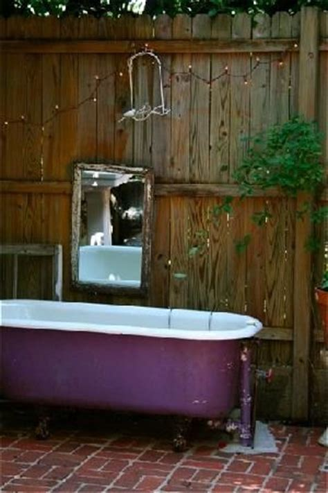 outside bathtub 17 best images about outdoor clawfoot bathtub on pinterest